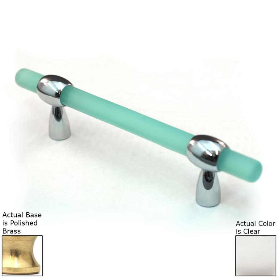 Cal Crystal 3-4-in Adjustable Center-to-Center Polished Brass Athens Bar Cabinet Pull