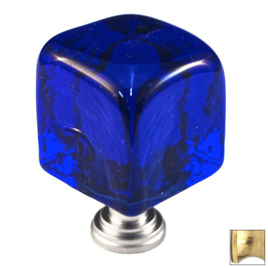 Cal Crystal Polished Brass Artx Square Cabinet Knob