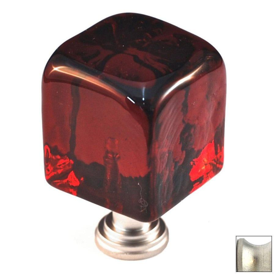 Cal Crystal Satin Nickel Artx Square Cabinet Knob