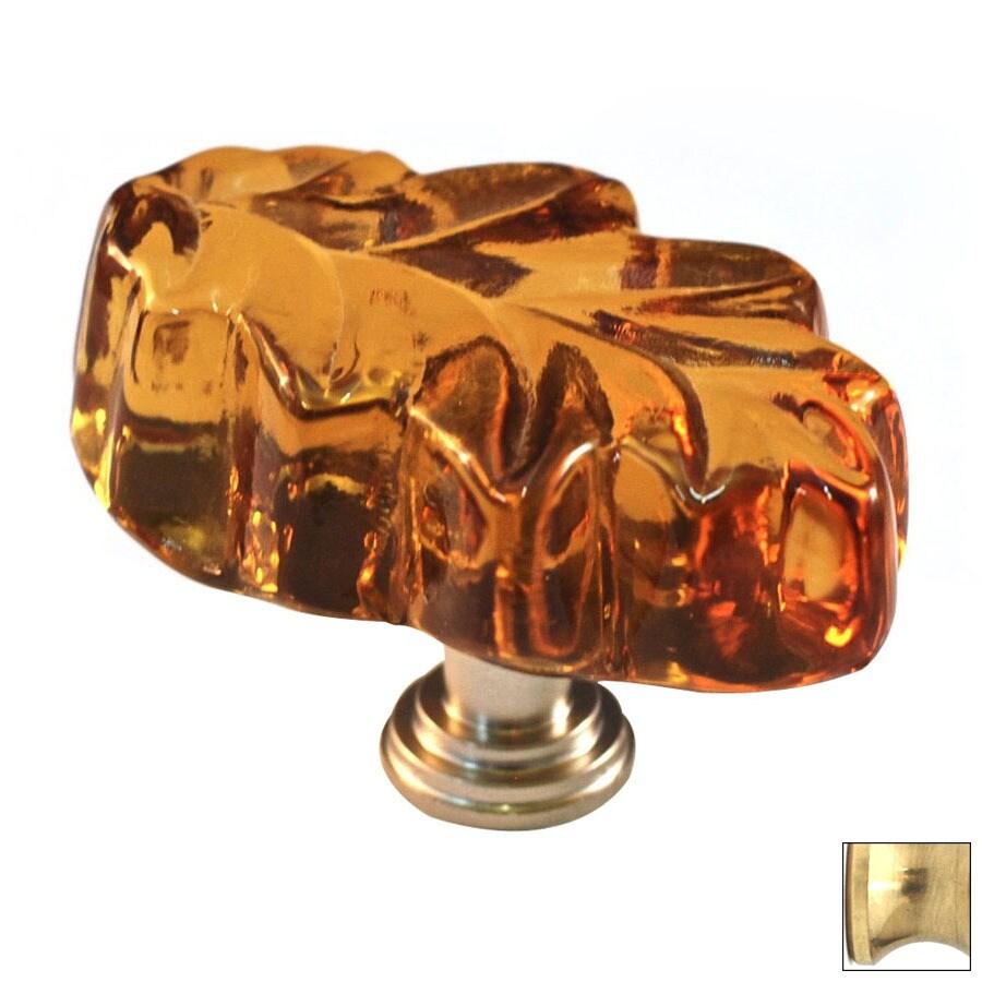 Cal Crystal Polished Brass Artx Novelty Cabinet Knob