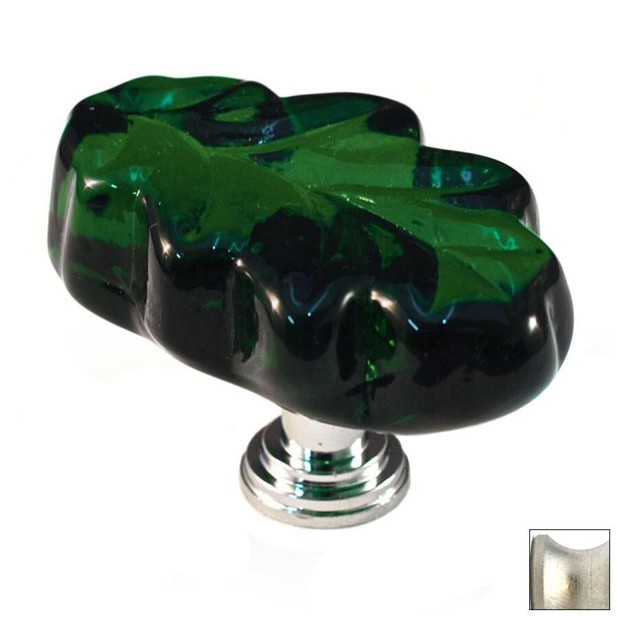 Cal Crystal Satin Nickel Artx Novelty Cabinet Knob