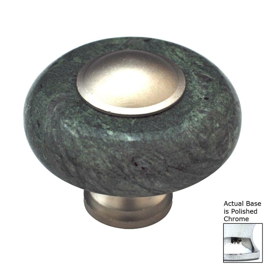 Cal Crystal Polished Chrome Marble Round Cabinet Knob