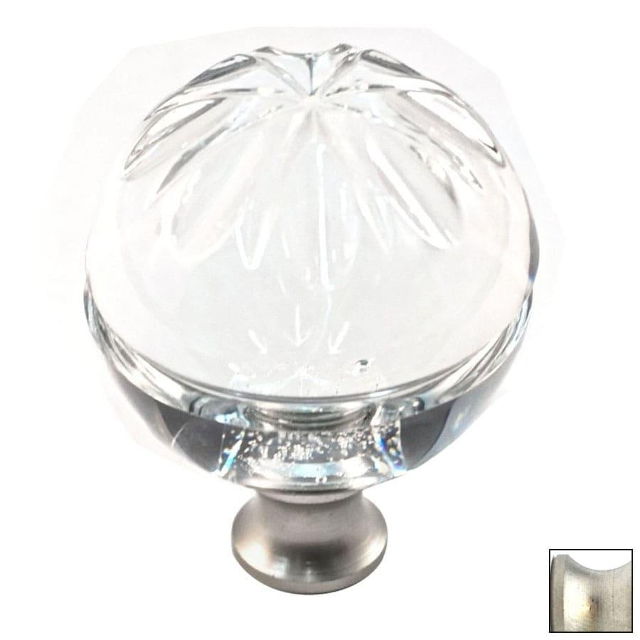 Cal Crystal Satin Nickel Crystal Globe Cabinet Knob