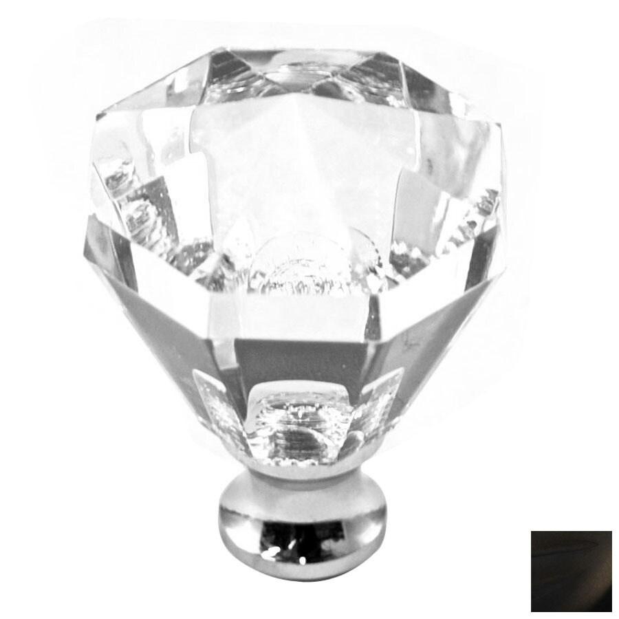 Cal Crystal Oil-Rubbed Bronze Crystal Octangular Cabinet Knob