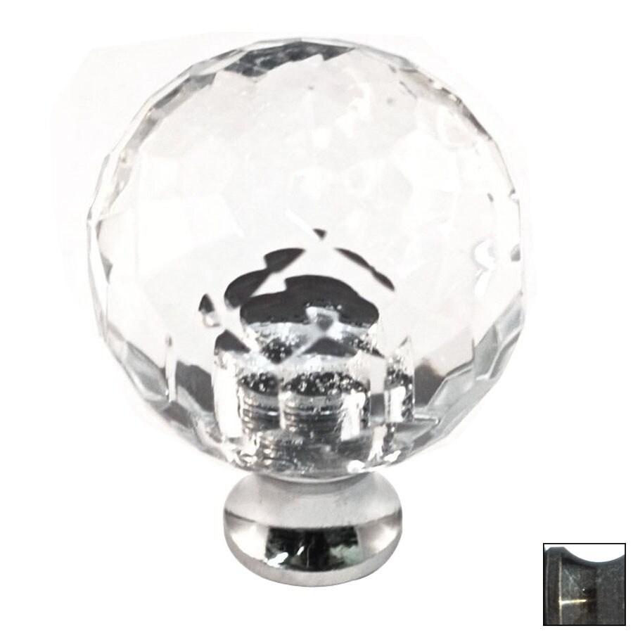 Cal Crystal Antique Brass Crystal Globe Cabinet Knob
