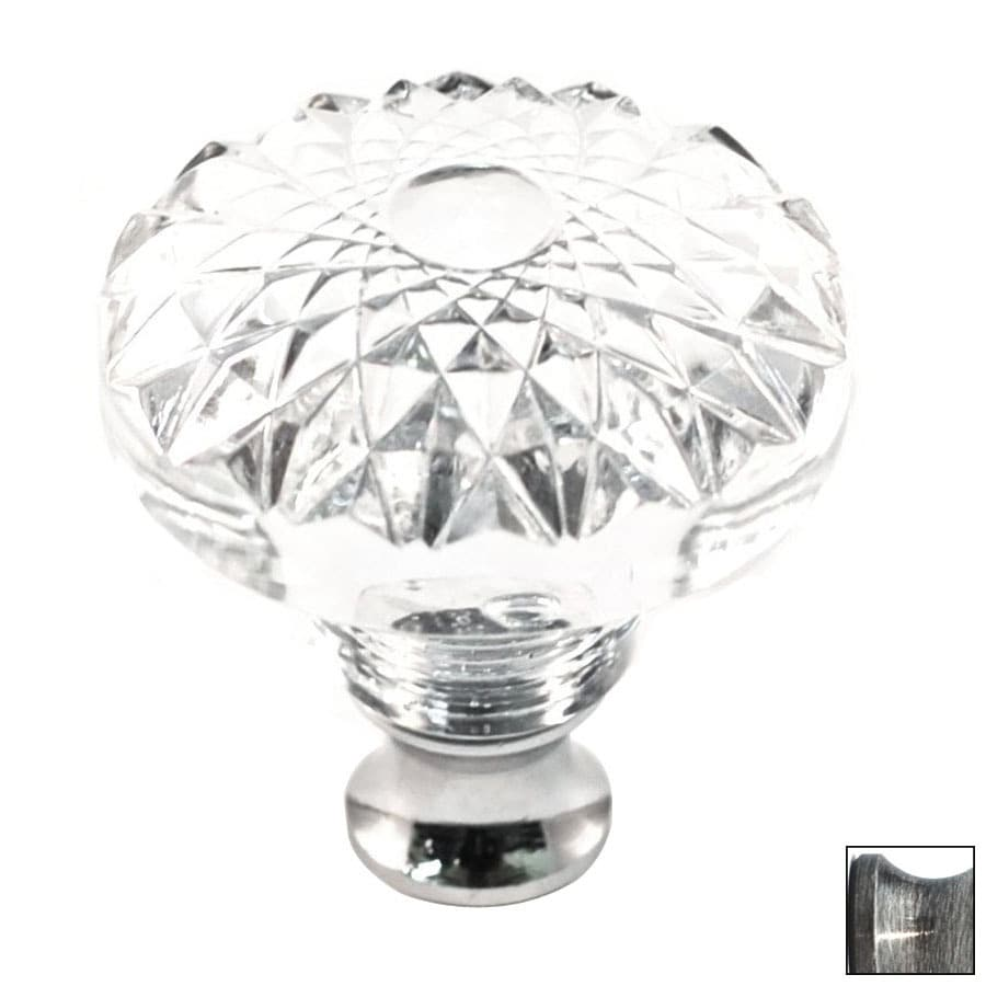 Cal Crystal Pewter Crystal Round Cabinet Knob