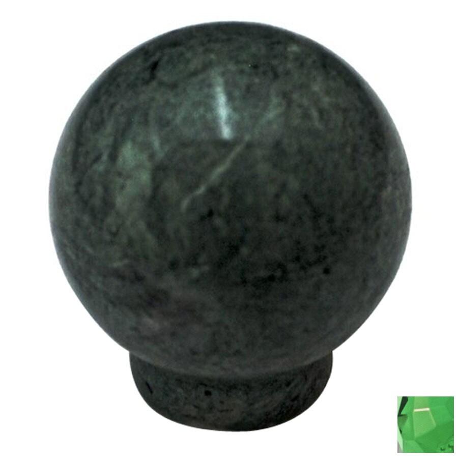 Cal Crystal Green Marble Globe Cabinet Knob