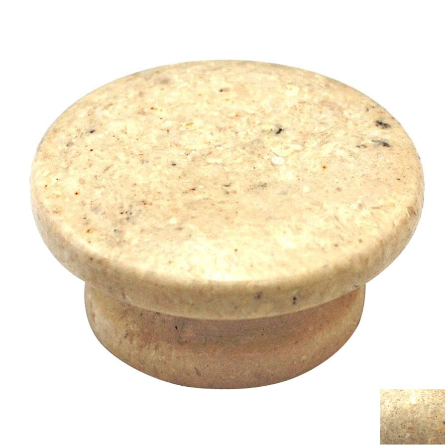 Cal Crystal Beige Marble Round Cabinet Knob