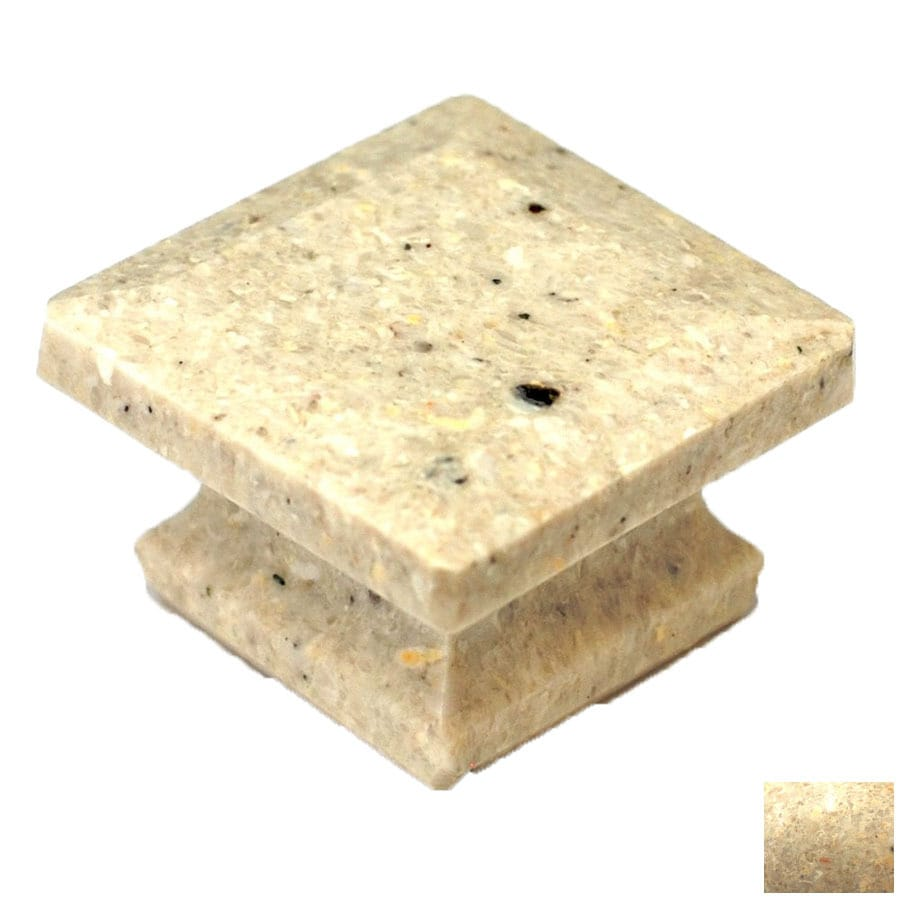 Cal Crystal Beige Marble Square Cabinet Knob