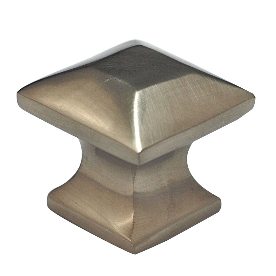 Cal Crystal Satin Nickel Vintage Square Cabinet Knob