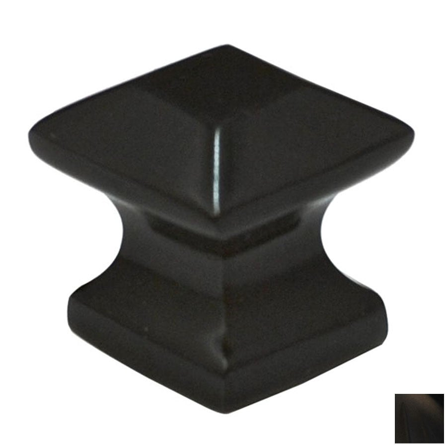 Cal Crystal Oil-Rubbed Bronze Vintage Square Cabinet Knob