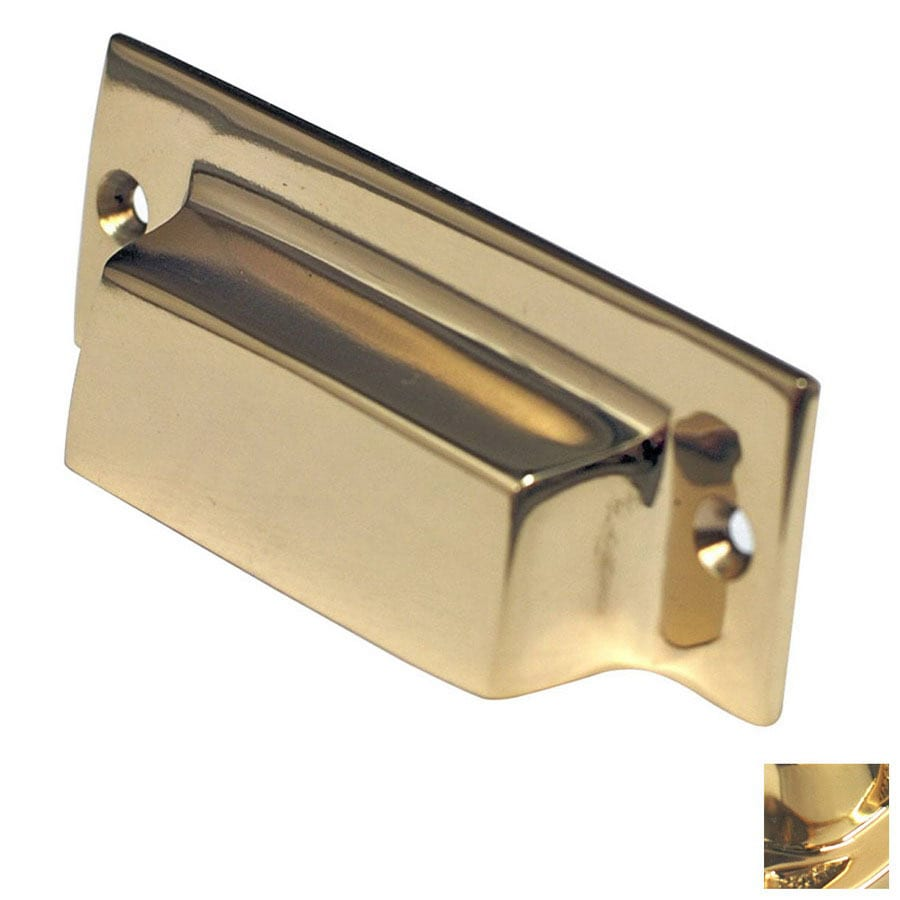Shop cal crystal 3 in center to center polished brass for 3 kitchen cabinet handles
