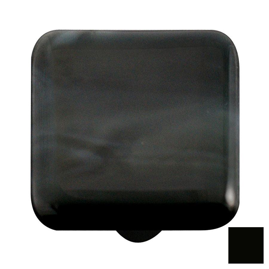 Hot Knobs Swirl Black Square Cabinet Knob