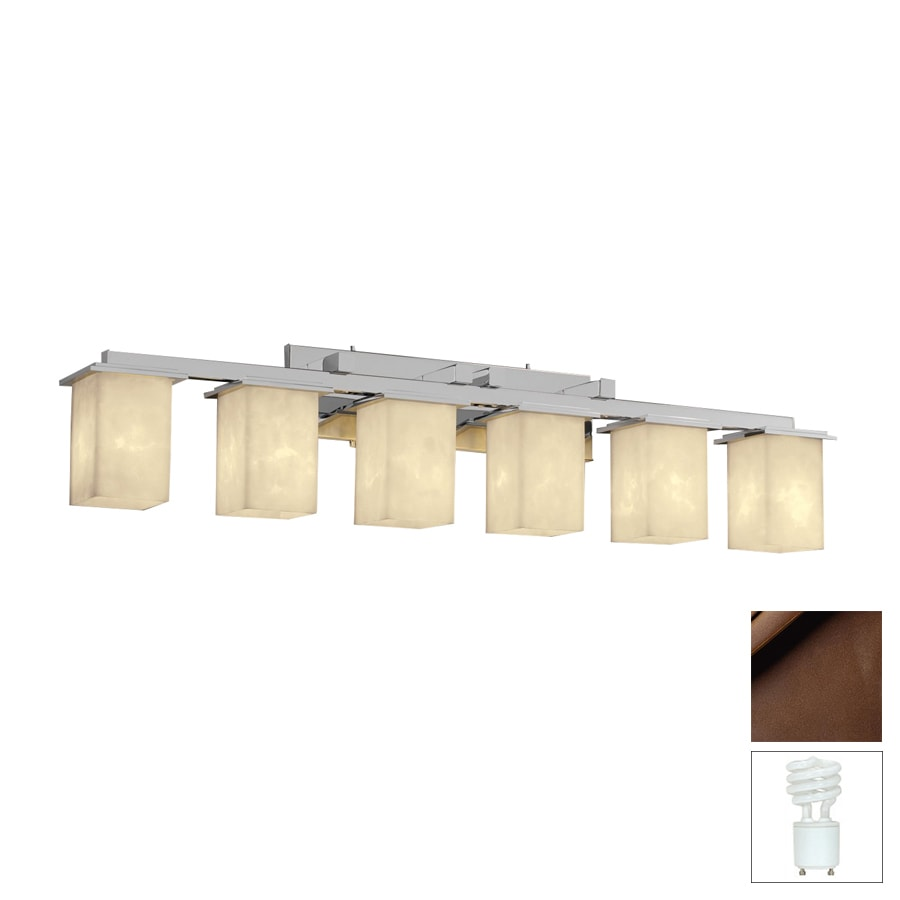 Dark Bronze Vanity Lights : Shop Cascadia Lighting 6-Light Clouds Montana Dark Bronze Bathroom Vanity Light at Lowes.com