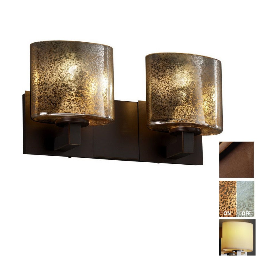 Dark Bronze Vanity Lights : Shop Cascadia Lighting 2-Light Fusion Modular Dark Bronze Bathroom Vanity Light at Lowes.com