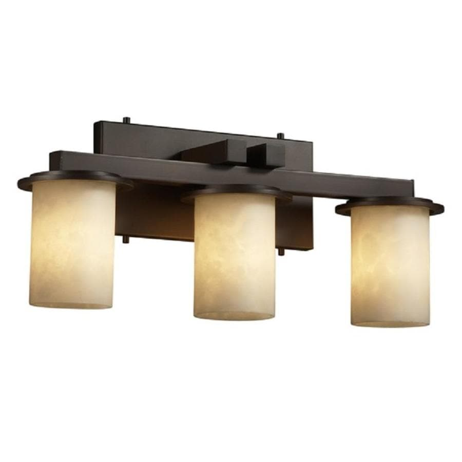 Three Light Bathroom Vanity Light: Shop Cascadia Lighting 3-Light Clouds Dakota Dark Bronze Bathroom Vanity Light At Lowes.com