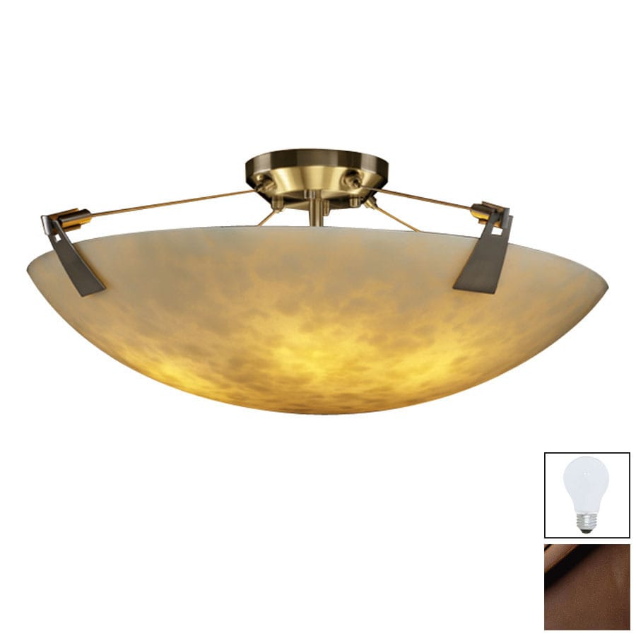 Cascadia Lighting 27-in W Dark Bronze Semi-Flush Mount Light