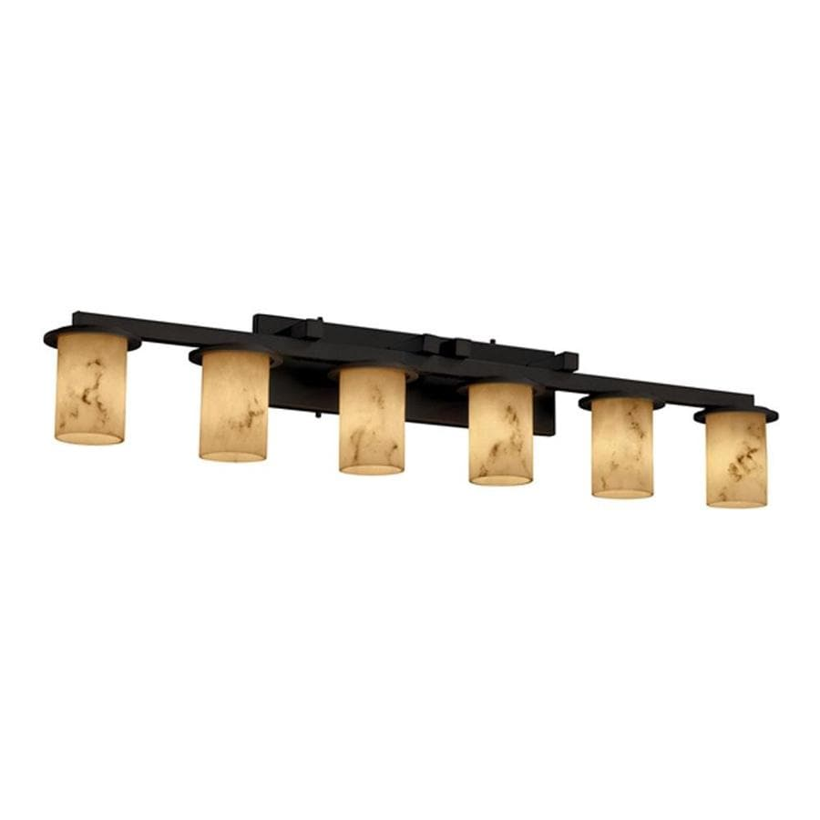 Shop Cascadia Lighting 6-Light Lumenaria Dakota Matte Black Bathroom Vanity Light at Lowes.com