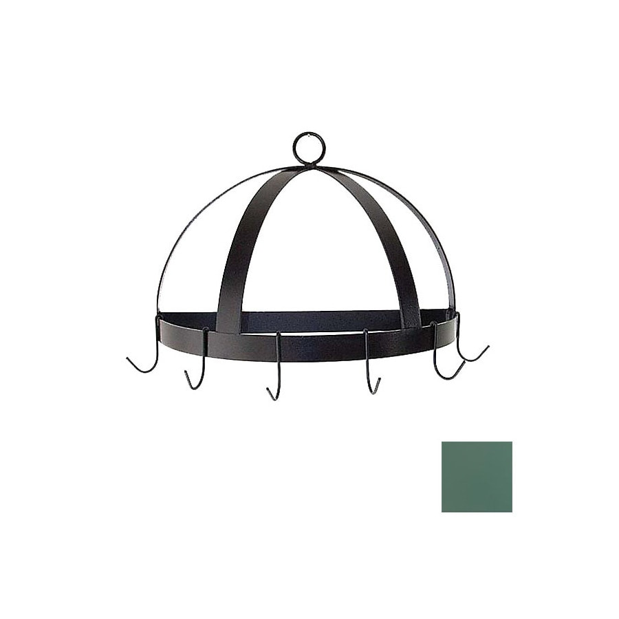 Grace Collection 20-in x 10-in Jade Teal Half Dome Pot Rack
