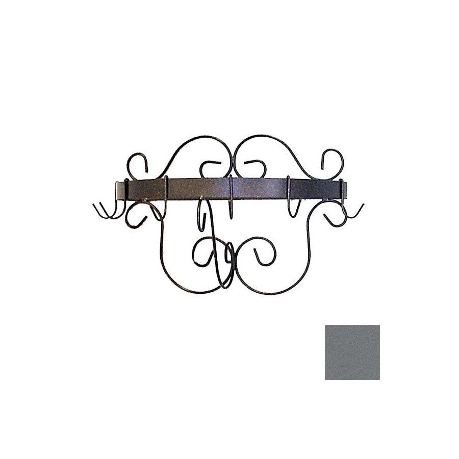 Grace Collection 20-in x 10-in Gun Metal Half Round Pot Rack
