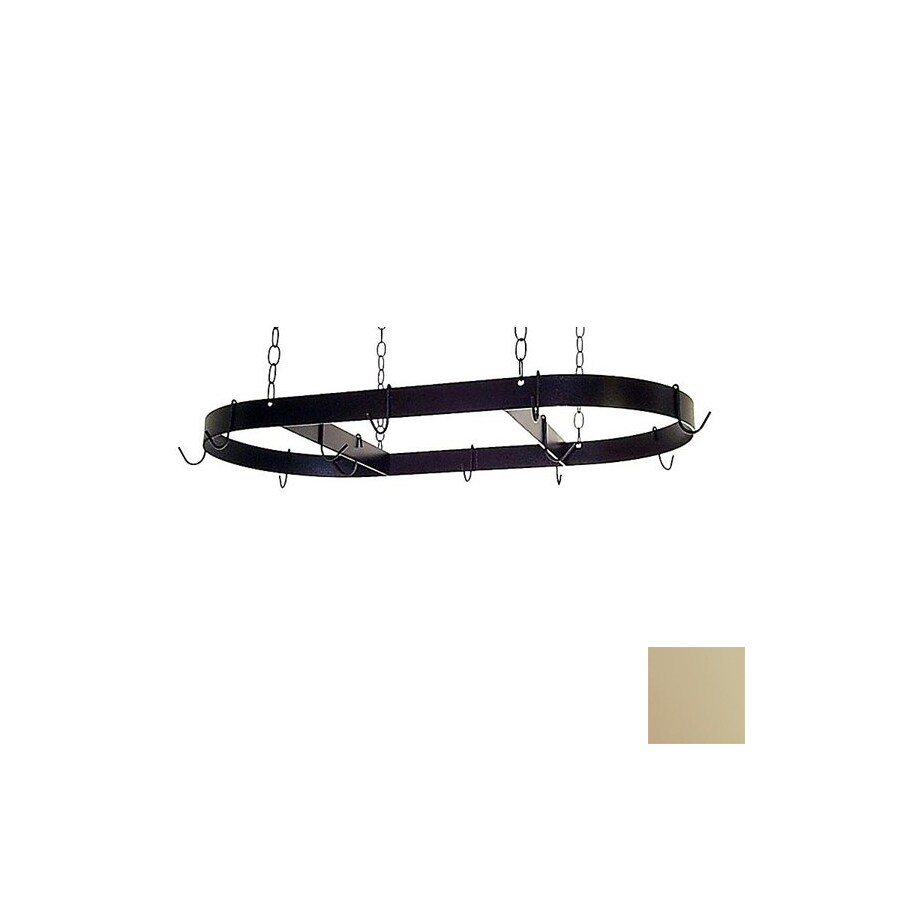 Grace Collection 36-in x 18-in Stone Oval Pot Rack