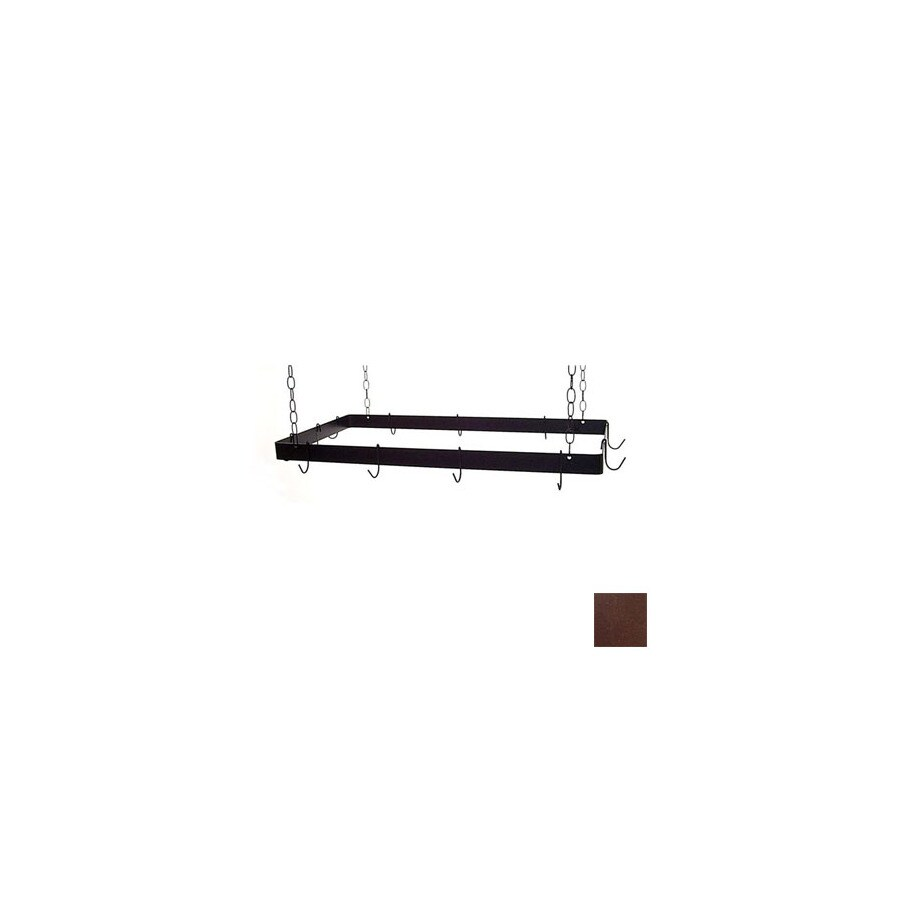 Grace Collection 36-in x 18-in Aged Iron Rectangle Pot Rack