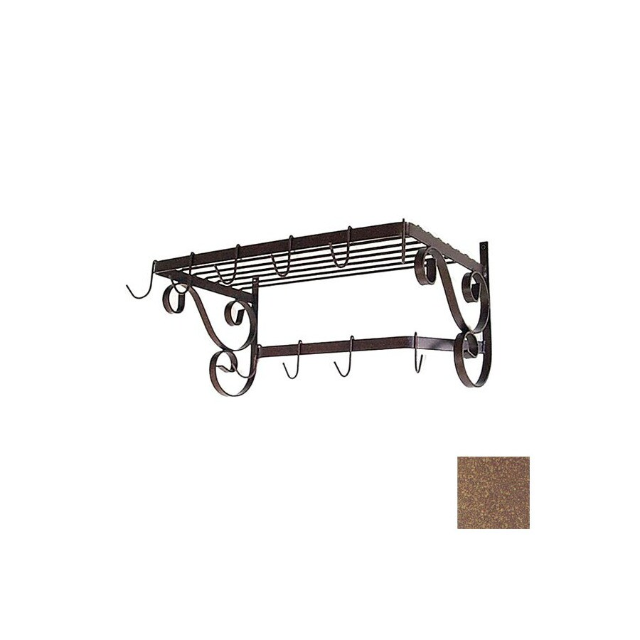 Grace Collection 24-1/2-in x 13-in Burnished Copper Rectangle Pot Rack