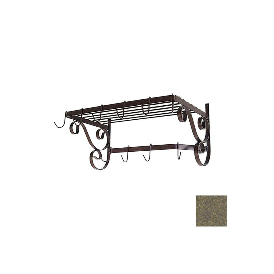Grace Collection 24-1/2-in x 13-in Antique Bronze Rectangle Pot Rack