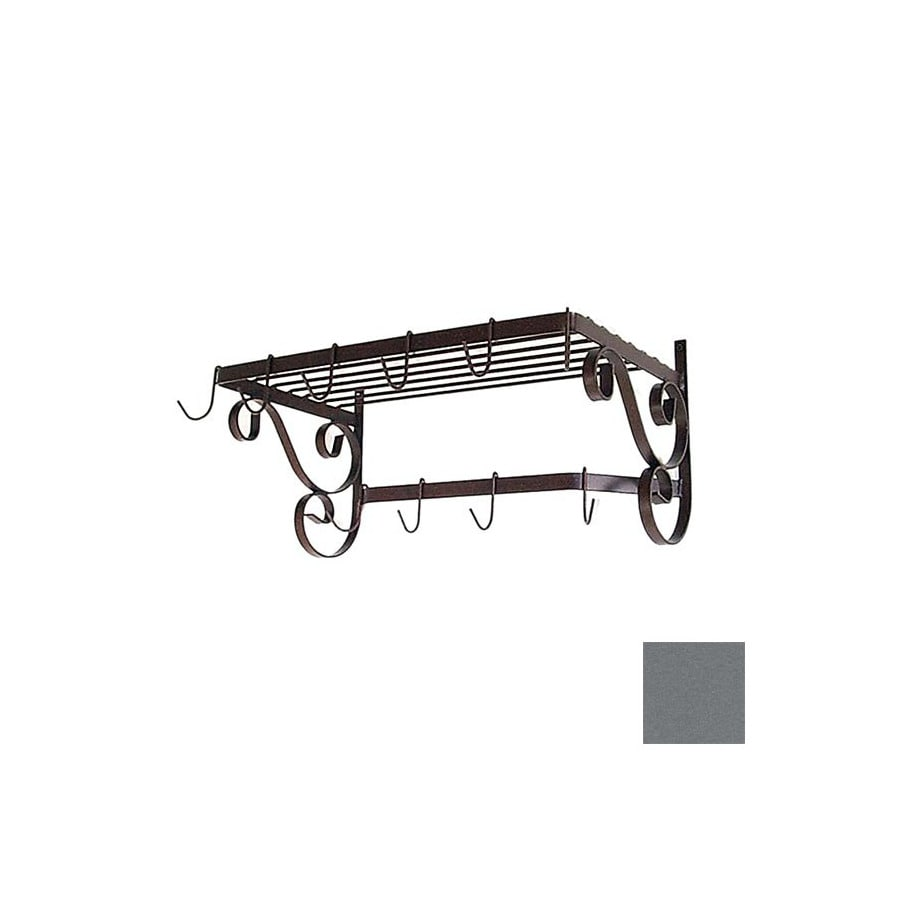Grace Collection 24-1/2-in x 13-in Gun Metal Rectangle Pot Rack
