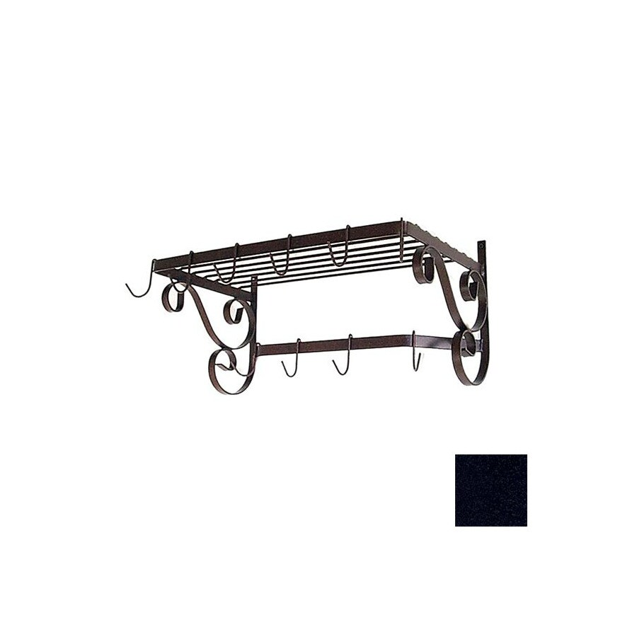 Grace Collection 24-1/2-in x 13-in Satin Black Rectangle Pot Rack