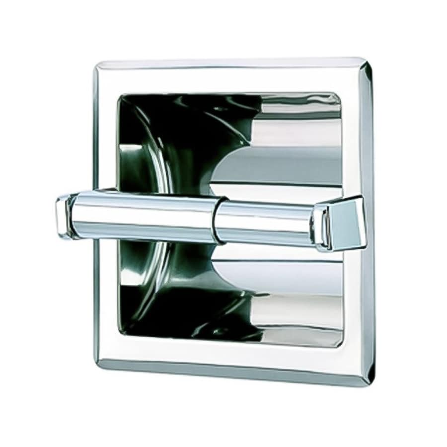 Shop nameeks standard hotel chrome recessed toilet paper holder at - Ceramic recessed toilet roll holder ...