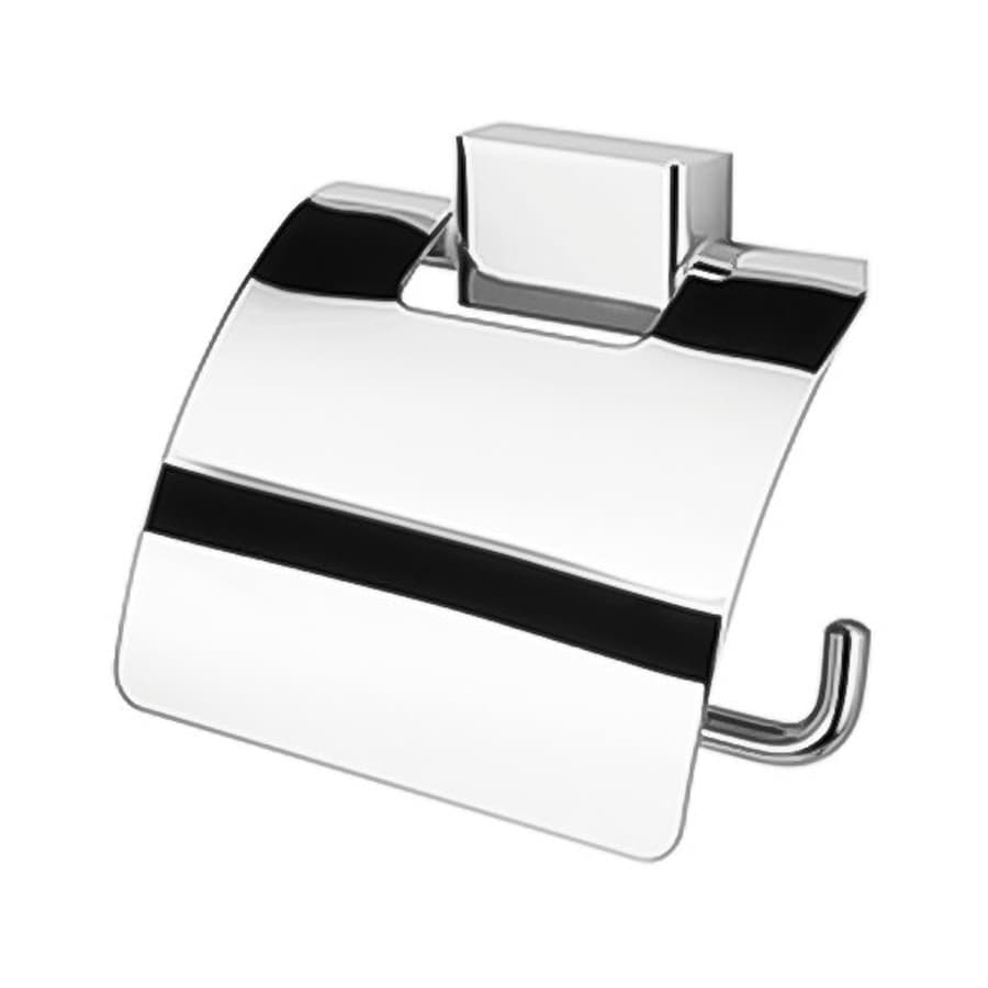 Nameeks Bloq Chrome Surface Mount Toilet Paper Holder with Cover