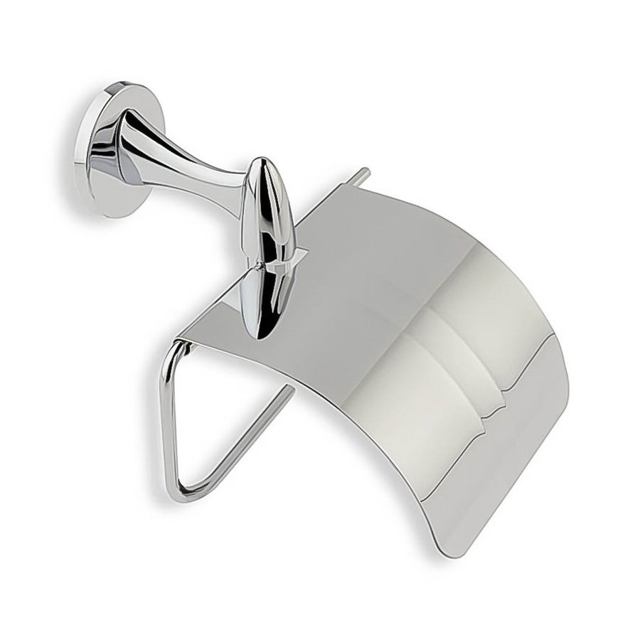 Nameeks Holiday Chrome Surface Mount Toilet Paper Holder with Cover