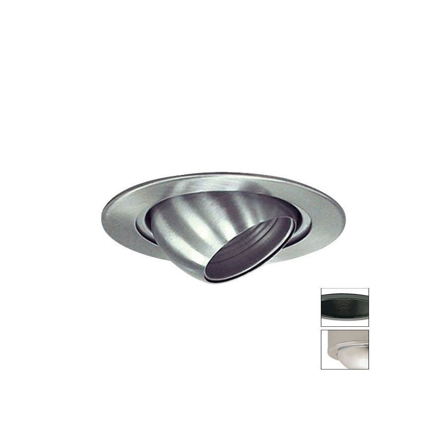 Nora Lighting Chrome Eyeball Recessed Light Trim (Fits Housing Diameter: 4-in)