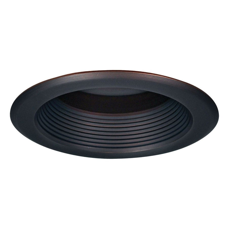 Recessed Lighting At Lowes : Nora lighting bronze baffle splay recessed light trim