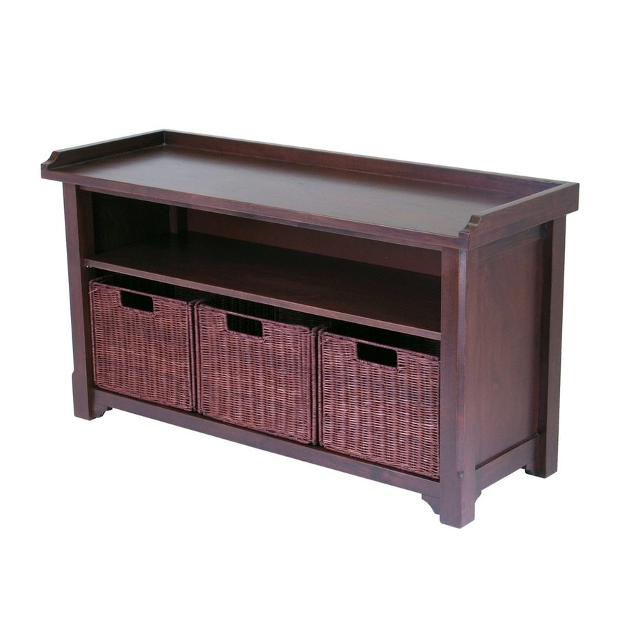 Shop Winsome Wood Antique Walnut Indoor Entryway Bench With Storage At