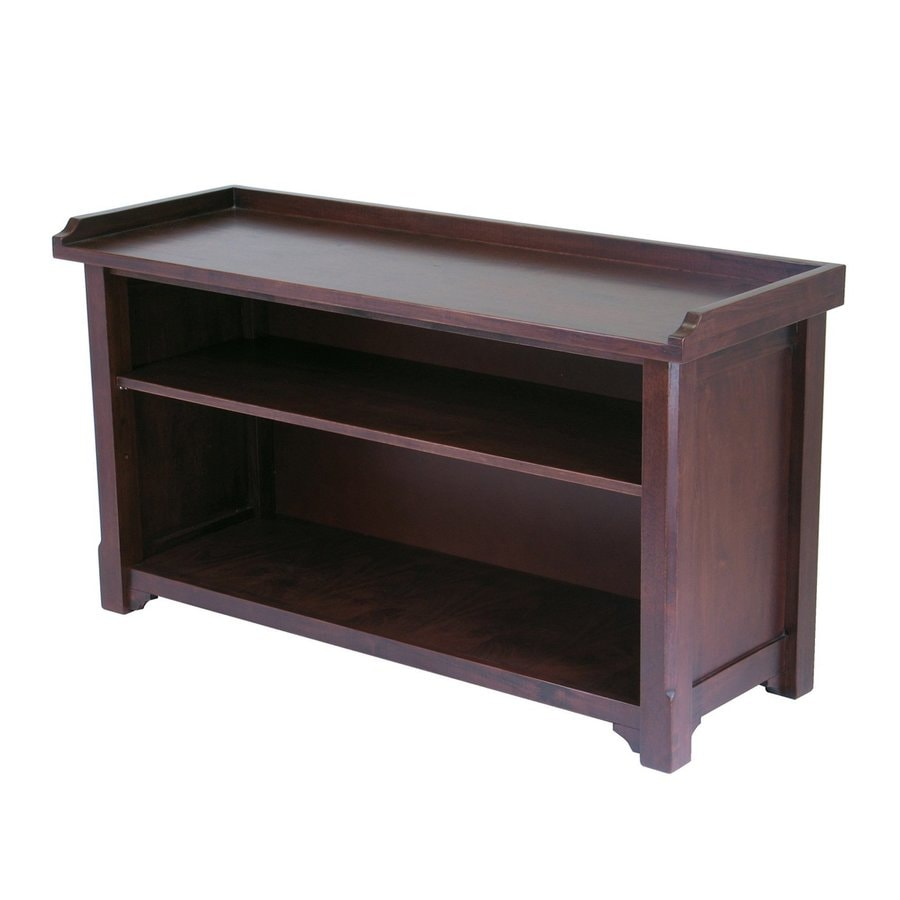 Shop Winsome Wood Verona Antique Walnut Indoor Entryway Bench With Storage At