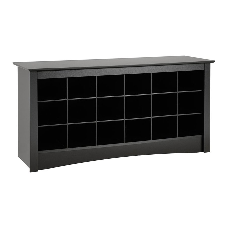 Foyer Mudroom Review : Shop prepac furniture black indoor entryway bench at lowes
