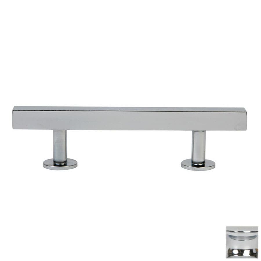 Lew's Hardware 3-in Center-to-Center Polished Chrome Bar Series Bar Cabinet Pull