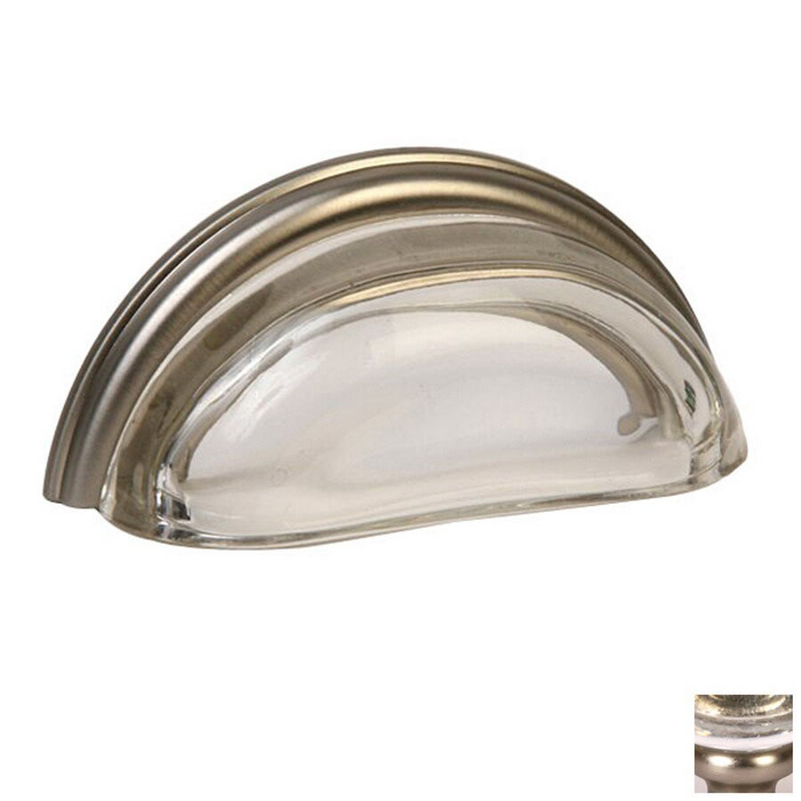 Lew's Hardware 3-in Center-to-Center Brushed Nickel Glass Bin Pulls Cup Cabinet Pull