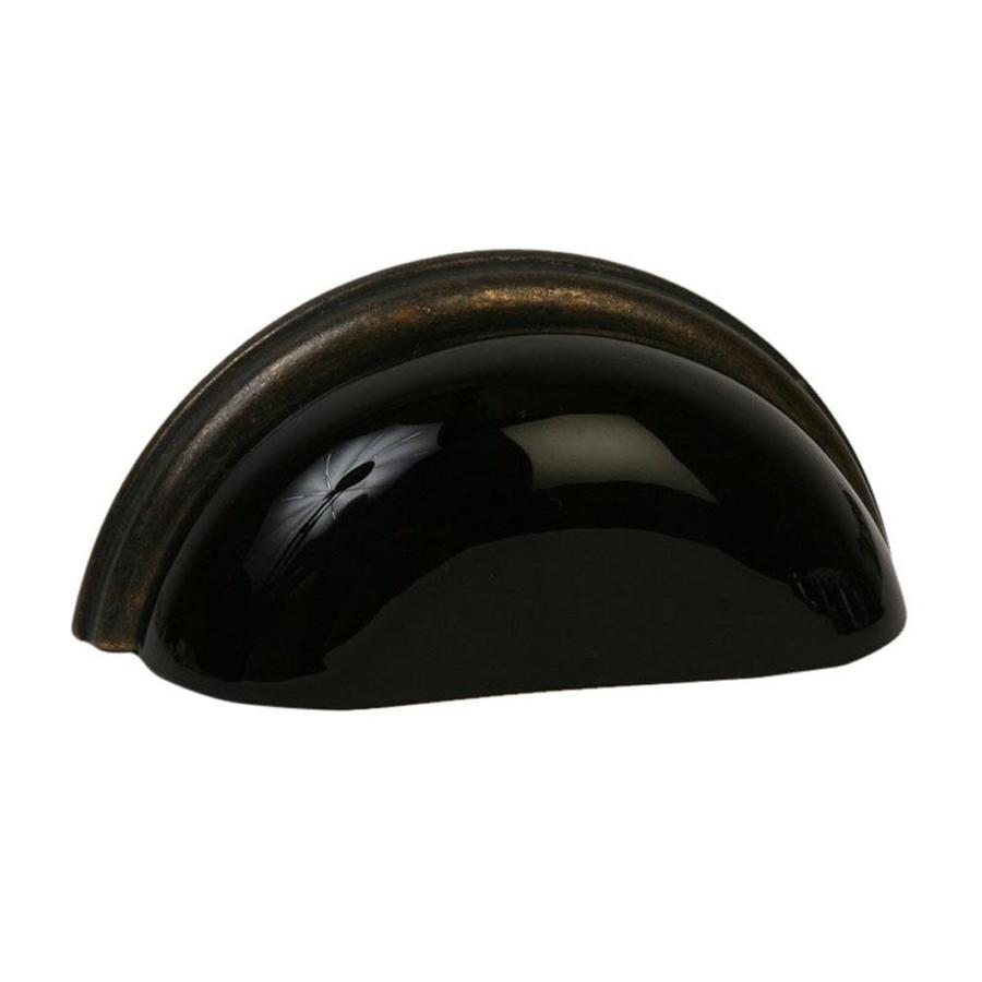 Lew's Hardware 3-in Center-to-Center Oil-Rubbed Bronze Glass Bin Pulls Cup Cabinet Pull