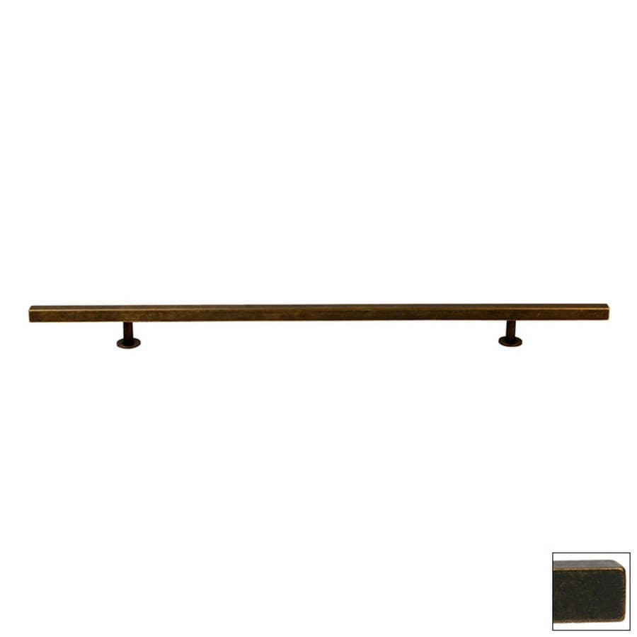 Lew's Hardware 12-in Center-to-Center Oil-Rubbed Bronze Bar Series Bar Cabinet Pull