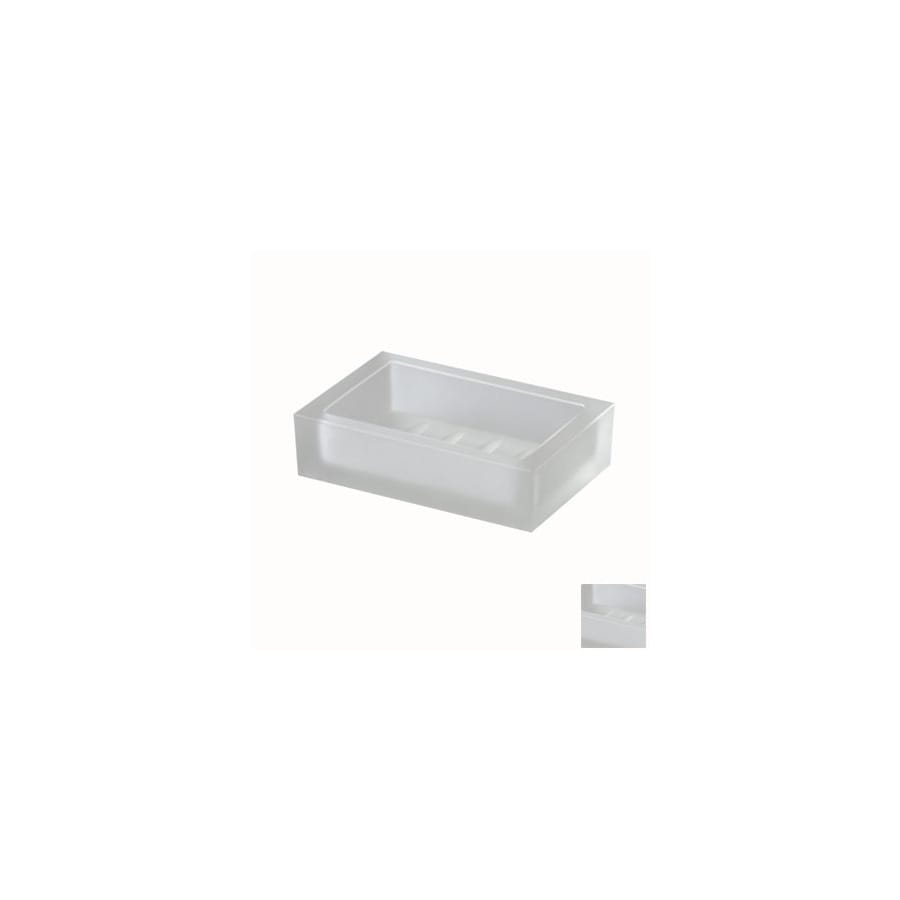 Nameeks Windisch Box Crystal Lineal White Glass Soap Dish