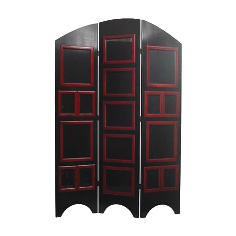 Shop Oriental Furniture 3 Panel Black Folding Indoor