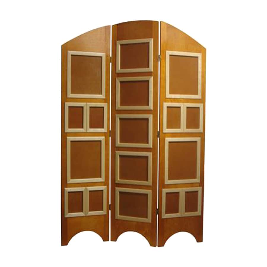 Oriental Furniture 3-Panel Honey Wood Folding Indoor Privacy Screen