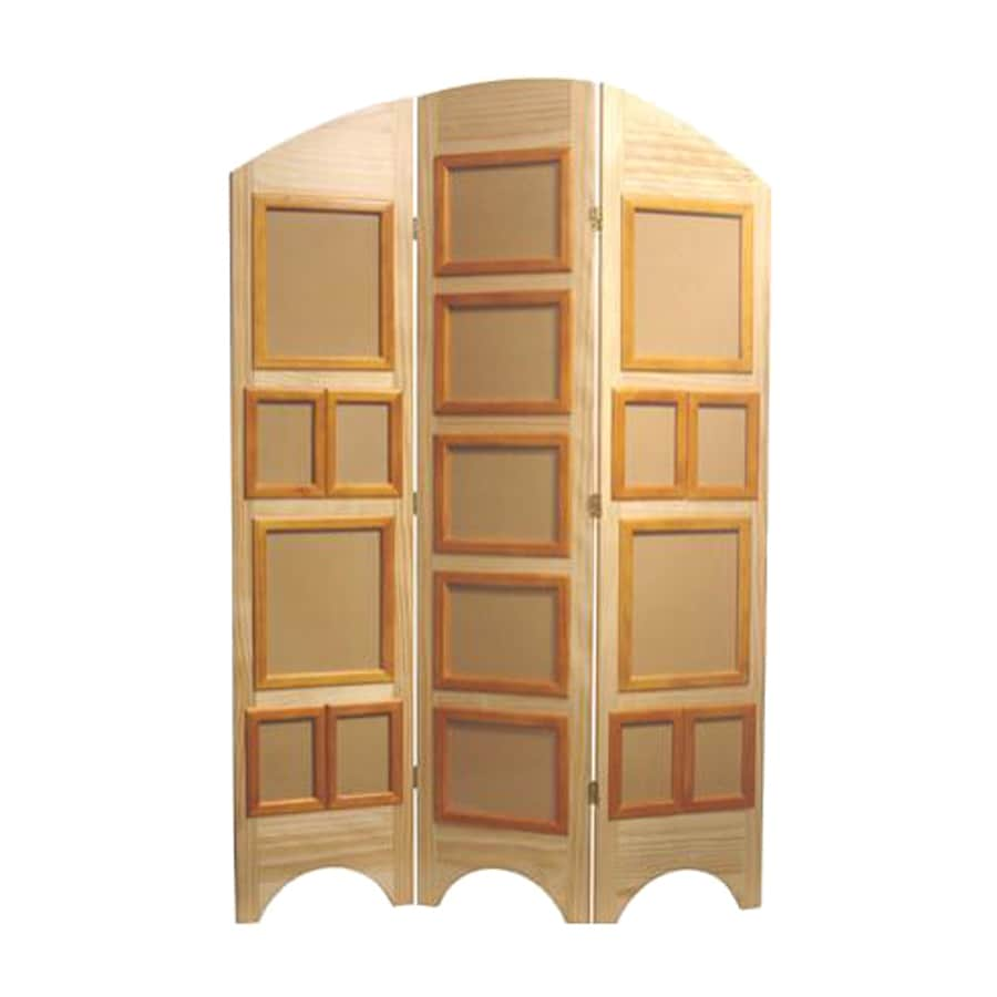 Shop Oriental Furniture 3 Panel Natural Wood Folding
