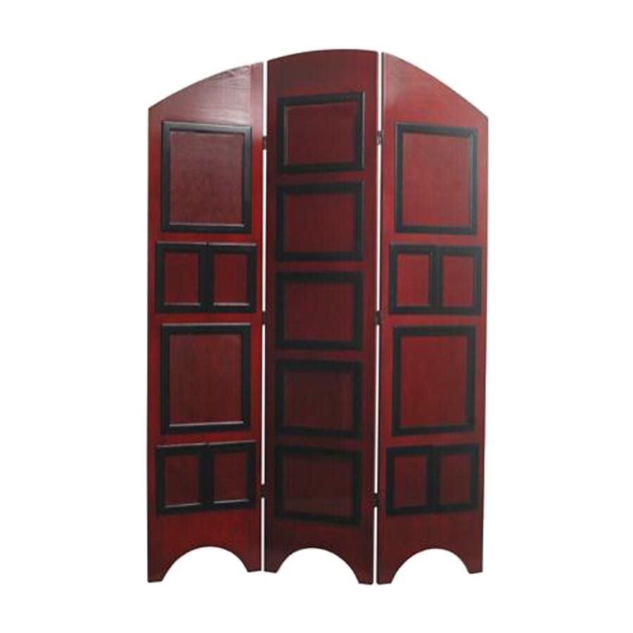 Shop Oriental Furniture 3 Panel Rosewood Wood Folding