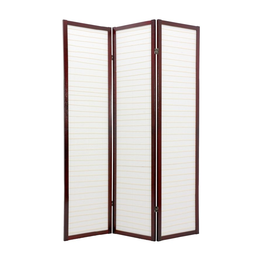 Shop Oriental Furniture 4 Panel Rosewood Wood And Paper Folding Indoor Privacy Screen At