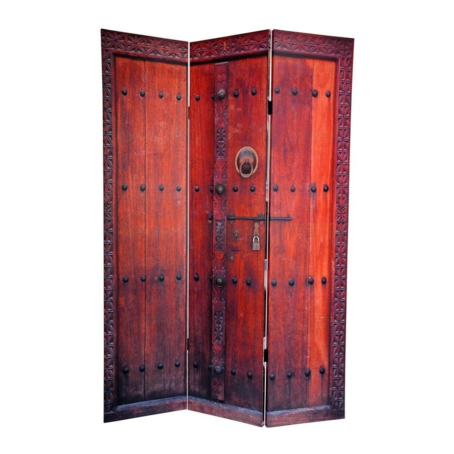 Fabric Panels To Cover Storage Area : Shop oriental furniture doors panel multi wood and