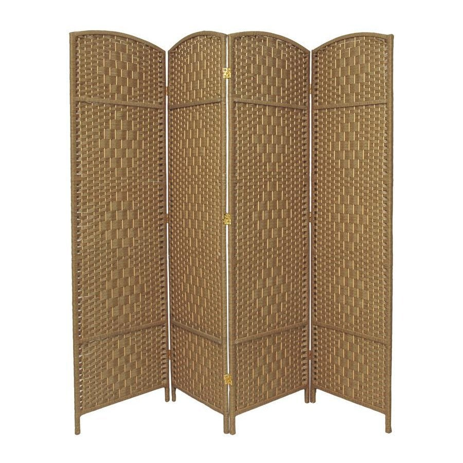 shop oriental furniture diamond weave 4 panel natural wood